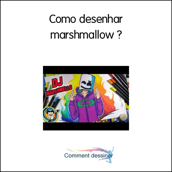 Como Desenhar Marshmallow Como Desenhar