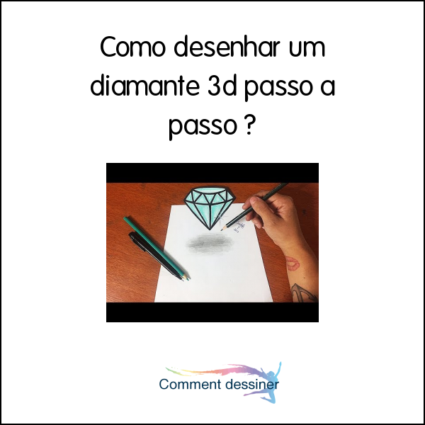 Como Desenhar Um Diamante 3d Passo A Passo Como Desenhar